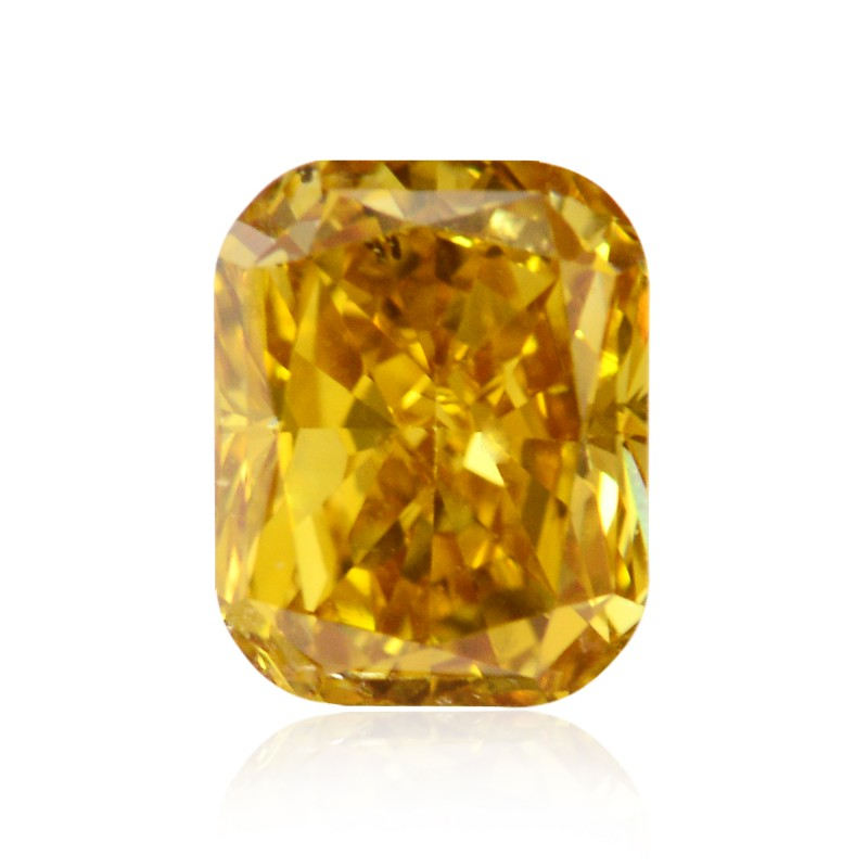 Orange Cushion Diamond