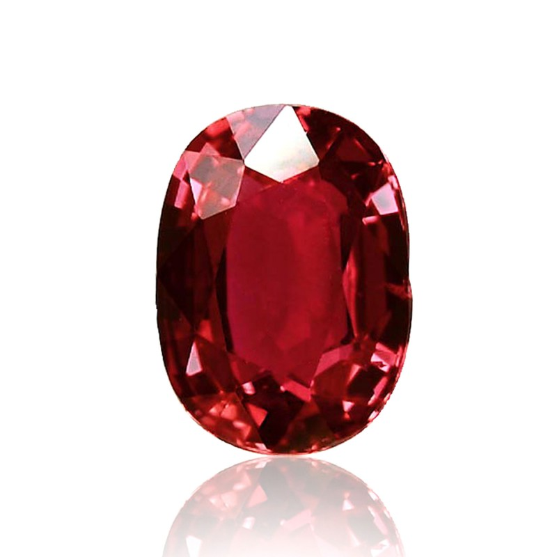 1 62 Carat Red Mozambique Ruby Oval Shape No Evidence