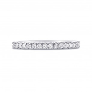 Platinum Diamond Half-Eternity Wedding Band, SKU 100409 (0.28Ct TW)