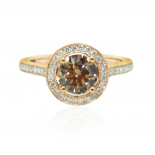 Fancy Brown Diamond Halo Ring, SKU 128396 (1.55Ct TW)