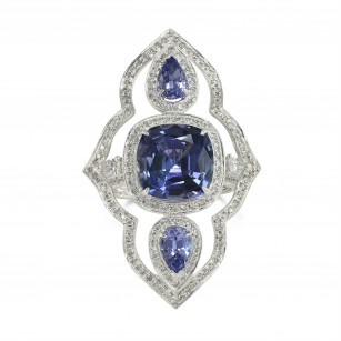 Tanzanite and Diamond Dress Ring, SKU 129930