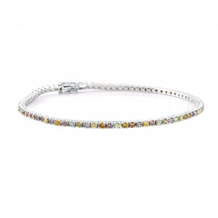 Lilies Collection - Multicolored diamond tennis bracelet, SKU 135809 (1.91Ct TW)