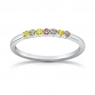 7 Stone Multicolored Diamond Stackable Band Ring, SKU 138124 (0.16Ct TW)