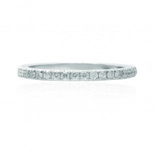 Open Pave Diamond Half Eternity Ring, SKU 148066 (0.27Ct TW)