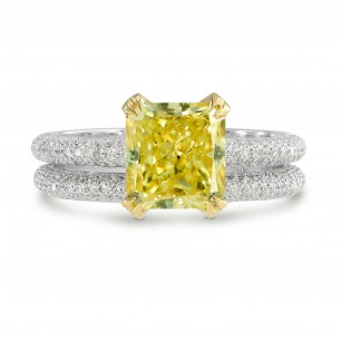 Fancy Intense Yellow Radiant Diamond Wedding Set, SKU 152122 (2.56Ct TW)