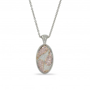Pink and White Diamond Pendant, SKU 159098 (0.30Ct TW)