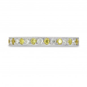 Fancy Intense Yellow and White Diamond Band Ring, SKU 160281 (0.31Ct TW)