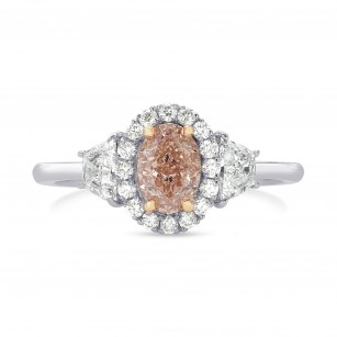 Fancy Pink Brown Oval Diamond Ring, SKU 161353 (1.25Ct TW)