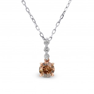 Fancy Deep Brown Round Diamond Pendant, SKU 162367 (0.55Ct TW)