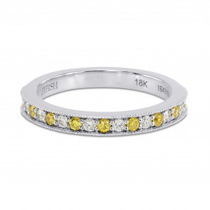 Fancy Intense Yellow and White Diamond Band Ring, SKU 164319 (0.34Ct TW)