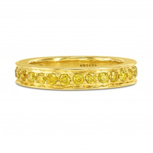 Fancy Vivid Yellow Diamond Band Ring, SKU 192177 (0.71Ct TW)