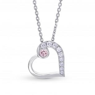 Pink and White Diamond Heart Pendant, SKU 194641 (0.16Ct TW)