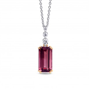 Pink Tourmaline and Diamond Drop Pendant, SKU 196644 (3.06Ct TW)