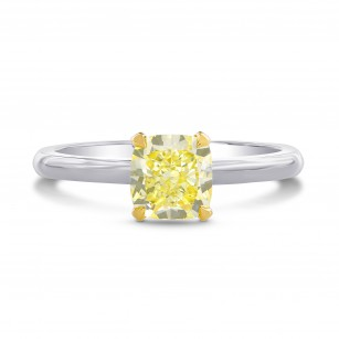Fancy Yellow Cushion Diamond Solitaire Ring, SKU 207847 (1.07Ct TW)