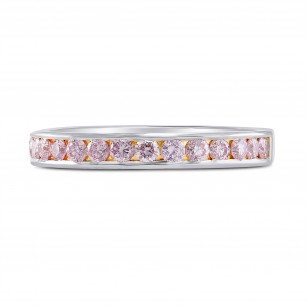 Light Pink Diamond Channel Band Ring, SKU 221831 (0.47Ct TW)
