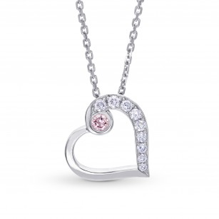 Pink and White Diamond Heart Pendant, SKU 223703 (0.16Ct TW)