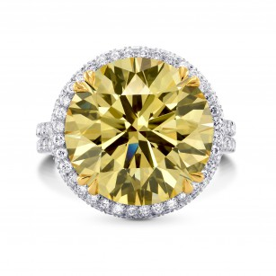 Extraordinary Fancy Brownish Yellow Round Diamond Halo Ring, SKU 228254 (11.04Ct TW)