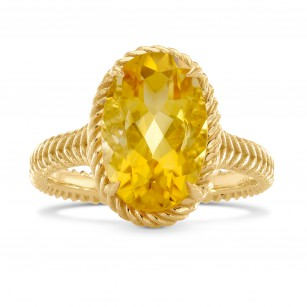 Oval Citrine & Gold Rope Ring, SKU 229234 (3.35Ct TW)