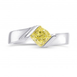 Square Cross-over Solitaire Ring Setting, SKU 2367S