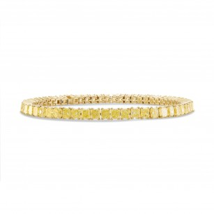 Fancy Yellow Radiant Diamond Tennis Bracelet, SKU 247780 (10.21Ct TW)