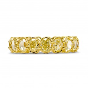 Light Yellow Oval Diamond Full Eternity Wedding Band Ring, SKU 250889 (7.32Ct TW)