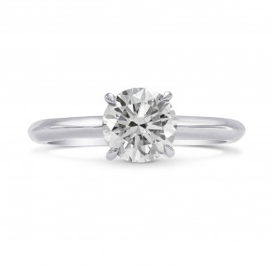 Fancy Light Gray Diamond Solitaire Ring, SKU 256587 (1.09Ct TW)
