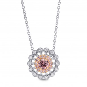Pink Diamond Filigree Pendant, 商品編號 257578 (0.34克拉)