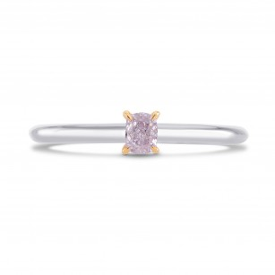 Fancy Pink Purple Cushion Diamond Solitaire Ring, SKU 261456 (0.19Ct TW)