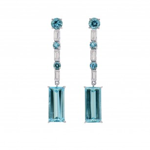 Extraordinary Light Blue Aquamarine Drop Earrings, SKU 262818 (7.08Ct TW)