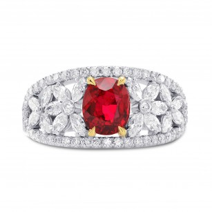 Unheated Ruby & Diamond Dress Ring, SKU 267190 (2.07Ct TW)