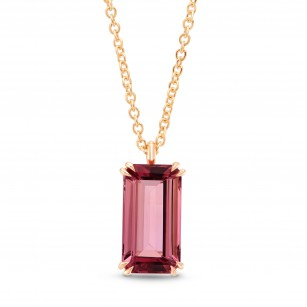 Pink Tourmaline Rose Gold Drop Pendant, SKU 267193