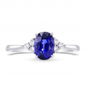 Oval Sapphire & Diamond Accent Ring, SKU 269271 (1.49Ct TW)