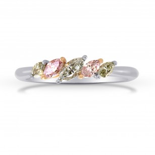 Pink & Green Marquise Diamond Band Ring, SKU 275008 (0.52Ct TW)