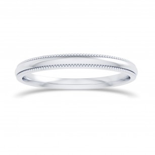 Wedding Band with Milgrain-2.0MM, SKU 27679R