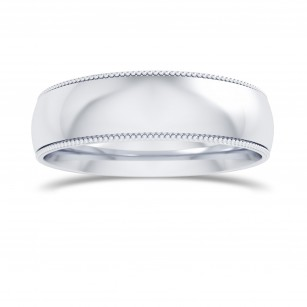 Wedding Band with Milgrain-5.0MM, SKU 27682R