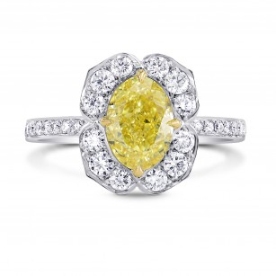 Oval Diamond Floral Full Pave Halo Ring, SKU 2768S
