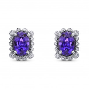 Purple Sapphire & Diamond Earrings, SKU 277764 (2.45Ct TW)