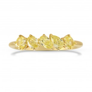 Mixed Fancy Yellow Diamond Band Ring, SKU 278174 (0.84Ct TW)