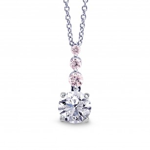 White & Pink Diamond Drop Pendant, SKU 27869R (0.58Ct TW)