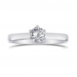 White Round Diamond Solitaire Ring, SKU 27874R (0.30Ct)