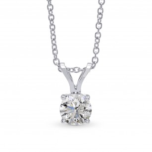 White Round Diamond Solitaire Pendant, SKU 27877R (0.30Ct)