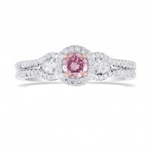 Argyle Fancy Intense Purplish Pink Diamond Engagement Ring, 商品编号 282327 (0.71克拉)