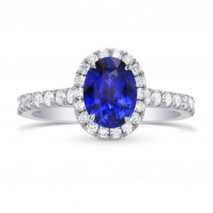 Sapphire & Diamond Halo Ring, SKU 288630 (1.77Ct TW)