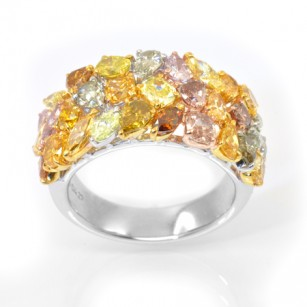 Fancy Color Diamond Couture Designer Ring, SKU 29002 (4.27Ct TW)