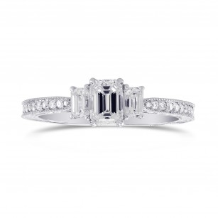 3Stone Emerald-Cut Diamond Vintage-style Ring, SKU 290258 (0.94Ct TW)