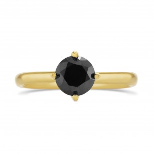 Round Black Diamond Solitaire Ring, SKU 291264 (1.24Ct)