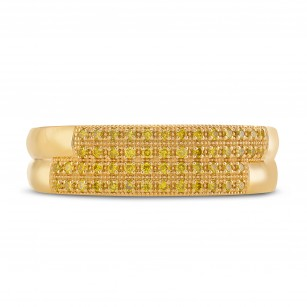 Gents Fancy Intense Yellow Diamond Band Ring, SKU 291795 (0.30Ct TW)