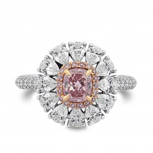Fancy Intense Pink Cushion & Pear Diamond Dress Ring, SKU 294052 (1.93Ct TW)