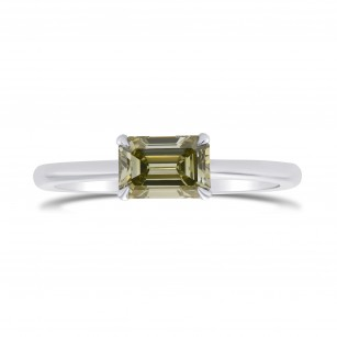 Chameleon Emerald-cut Diamond Solitaire Ring, SKU 297299 (0.94Ct)