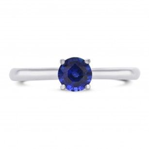 Fine Blue Round Sapphire Solitaire Ring, SKU 297510 (0.71Ct)